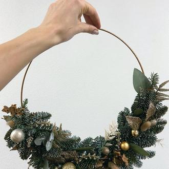 Різдвяний декоративний віночок