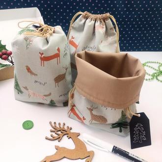 Подарочный набор мешочков для трав, Лесная сказка, 22х17 см, 3 шт, Новый год