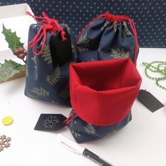 Подарочный набор мешочков для трав, Остролист, 22х17 см, 3 шт, Новый год
