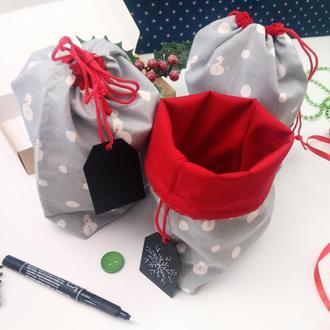 Подарочный набор мешочков для трав, Сніговік, 22х17 см, 3 шт, Новый год
