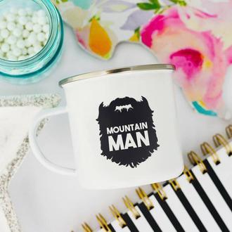 """Эмалированная кружка """"Mountain man"""""""