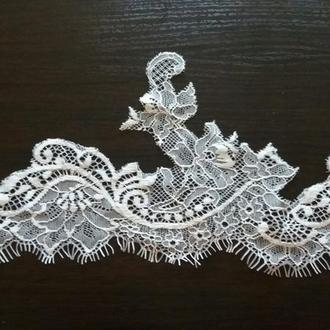 Фата айвори из красивого и легкого кружева