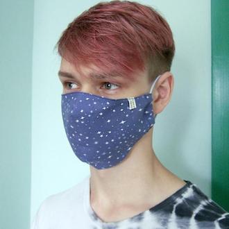 Многоразовые двухслойные маски из хлопка