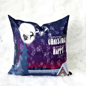 Новорічна подушка для атмосфери свята. декоративна подушка