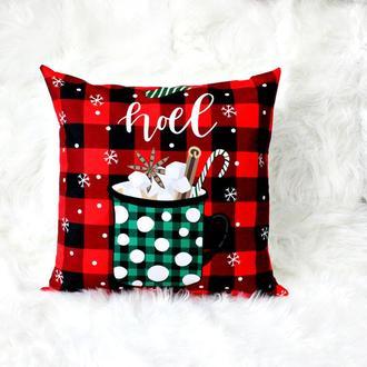 Яркая, красивая подушка к зимним праздникам. Новогодняя подушка