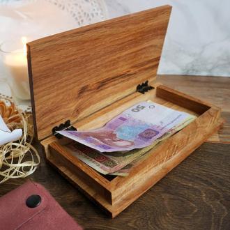 Счетница чекбук чекница для официанта для ресторана и кафе Шкатулка для счетов и чеков из дерева