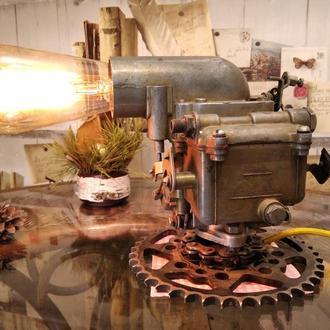 Лампа стимпанк лофт дизельпанк 6