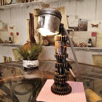 Лампа стімпанк лофт дизельпанк 3