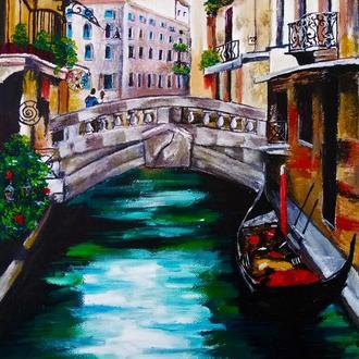 Картина маслом 25х35 Венеція