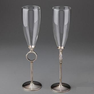 Свадебные бокалы на металлической ножке Y-017G