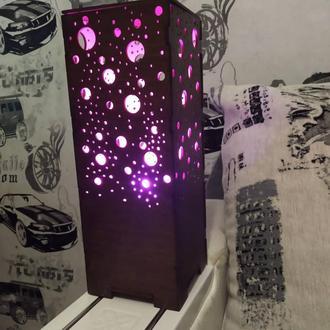 Светильник ночник с ржб свечением на дистанционном управлении