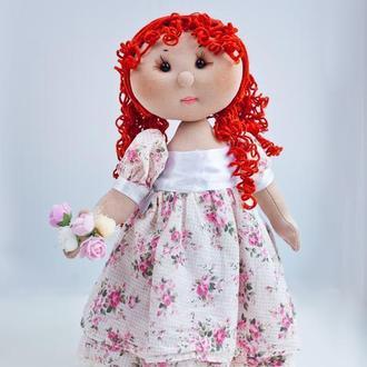 Интерьерная кукла с рыжими волосами, куклы ручной работы