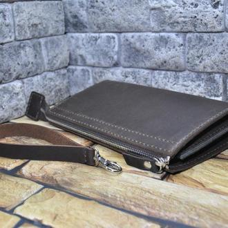Брутальный кошелек-клатч из кожи KLH02-450