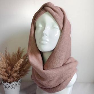 Зимовий комплект чалма і снуд, пов'язка на голову, снуд, шарф