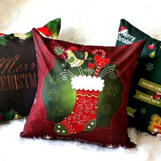 Новогодние подушки для уюта, 45 см. Декоративные подушки