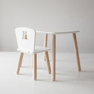 Комплект деревянный стол и стул детский