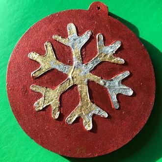 Новогодняя игрушка «Снежинка 2». Серия - «Объём»