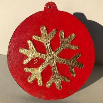 Новогодняя игрушка «Снежинка 1». Серия - «Объём»