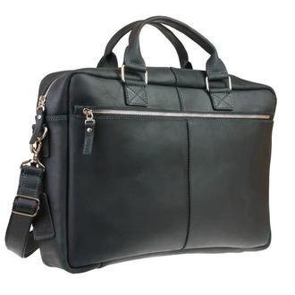 Мужская черная вместительная сумка для ноутбука