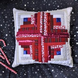 Рождественская интерьерная подушка
