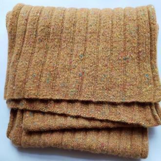 Твидовый вязаный шарф