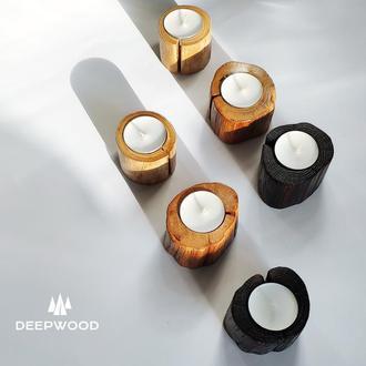 Подсвечники из дуба, деревянный подсвечник, подсвечник из дерева