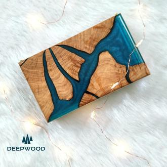 Скринька з дуба і епоксидної смоли, шкатулка из дерева, шкатулка для украшений