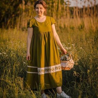 Платье с вышивкой бисером, вышиванка бисером