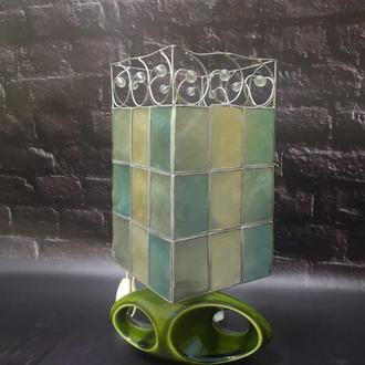 Ретро лампа с абажуром Holkham england