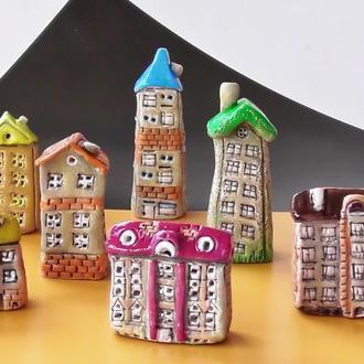 Домики из керамики подарок коллекционеру домиков
