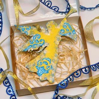 Новорічна ялинкова іграшка Рожлест ангел