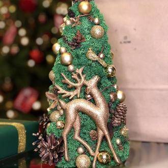 Новогодняя декоративная елка из стабилизированного мха🎄