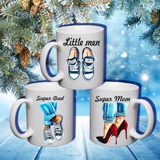 """К000581Семейные белые чашки (кружки) с принтом """"Обувь"""""""