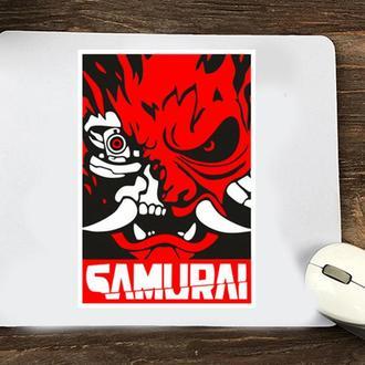 """Коврик для мыши с принтом """"Cyberpunk (Samurai)"""""""