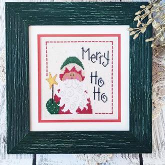 """Картина вишита хрестом """"Merry Ho-Ho"""""""