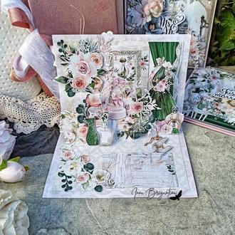 Объёмная Свадебная открытка