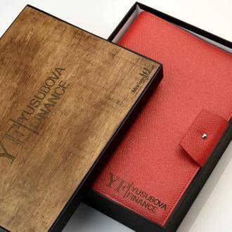 Подарок начальнице Презентабельный подарок начальнице Кожаный блокнот