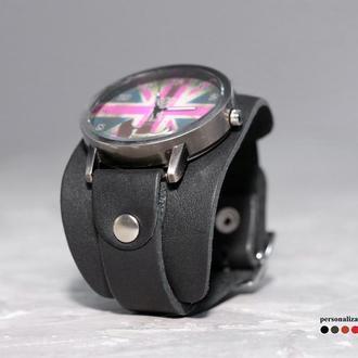 Кожаный ремешок для часов, код 5357