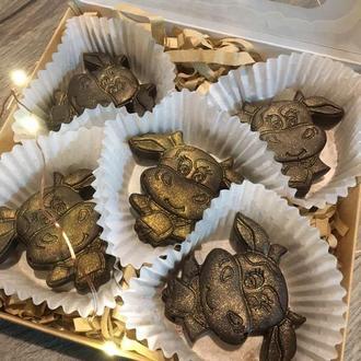 Конфеты шоколадные бык 2120 новый год подарок