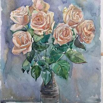 Розы. Акварель