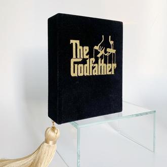 """Клатч-книга """"Крестный отец"""" книга клатч Godfather вышитый вечерний клатч сумка в виде книги авторска"""