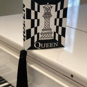 клатч книга Королева книга клатч the Queen черно белая сумка вечерняя сумка в виде книги