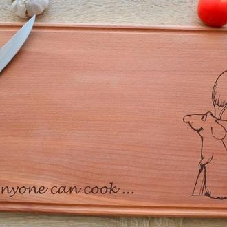 """Доска кухонная """"Anyone can cook"""""""