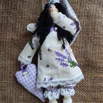 Сонный ангел тильда Лавандочка, сплюшка тильда