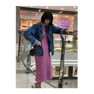 Платье нежно-розового цвета 𝗦𝗢𝗨𝗟𝗔𝗡𝗚𝗘