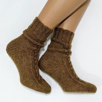 Вязаные женские носки из верблюжьей шерсти