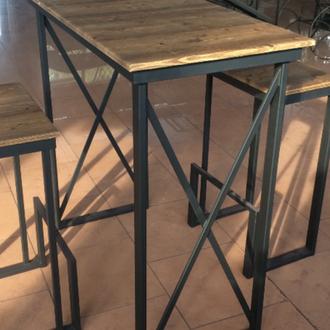 Столик в стиле лофт. Барный столик.