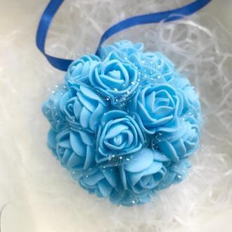 """Свадебный декор """" Голубые розы """", украшение зала"""