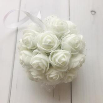 """Свадебный декор """" Белые розы """", сувенир"""