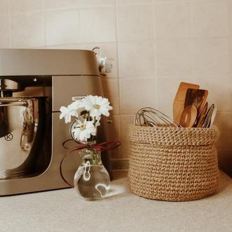 Нарутальная Джутовая корзиня для хранения мелочей на кухне